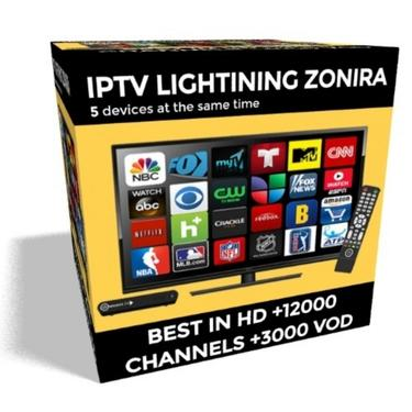 IPTV LIGHTNING ZONIRA Subscription For 12 Months Supports 5 devices at the  same time